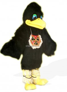 Black Plush Bird Costume for Adult