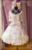 Sweet Cake Party Cotton and Chiffon Sweet Lolita OP