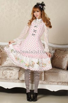Lovely Easter Eggs & Rabbit Print JSK Sweet Lolita Dress