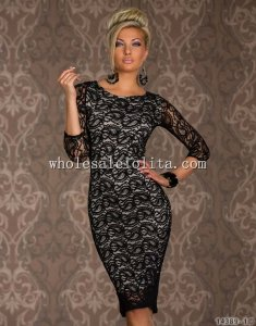Sexy Side Cut Out Lace Tight Culb Dress