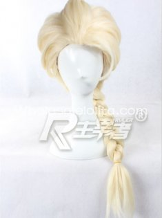 Light Golden FROZEN Snow Queen Elsa Cosplay Wig