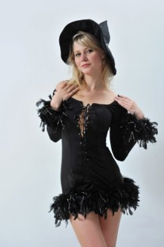 Classic Sexy Black Short Witch Costume