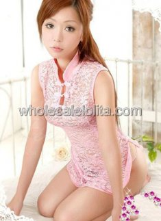 Beautiful Pink Lace Cheongsam