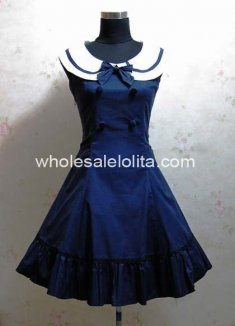 Sailor Collar Slim sleeveless Sailor Style Dress