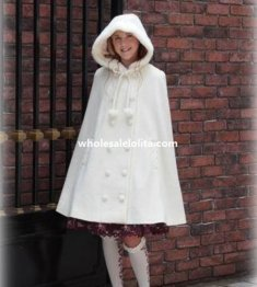 Autumn/Winter Wool Sweet Lolita Hooded Overcoat