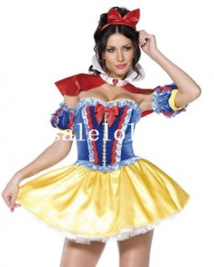 Disney Snow White Princess Sexy Halloween Costume for Lady