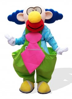 Clown Adult Plush Mascot Costume