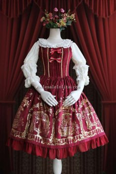 Infanta ANGEL COURTYARD Printing Sweet Lolita Dress JSK