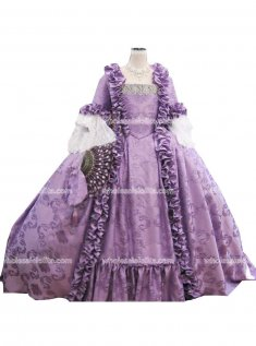 18th Century Marie Antoinette Light Purple Victorian Dress Prom/Wedding Dress Ball Gown