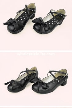 Sweet Bow Cute Round Toe Girls Flat Lolita Shoes