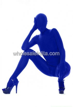 Blue Full Covered Lycra Spandex Catsuits