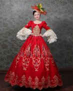 French Victorian Dress Satin Period Dress Ball Gown Rococo Victorian Dress Marie Antoinette Dress