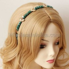 Crystal Rattan Headband Masquerade Accessories