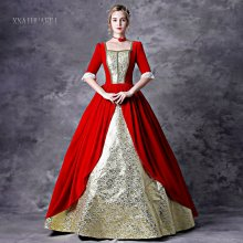 Red Halloween Dress Baroque Victorian Dress Victorian Women Dress Period Dress Ball Gown