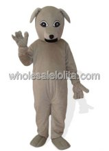 Gray Plush Adult Dog Mascot Costume