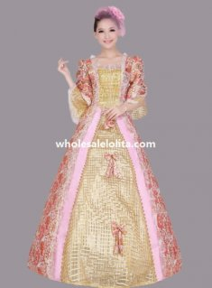 Elegant Historical Rococo Marie Antoinette Period Dress Theatre Clothing N2