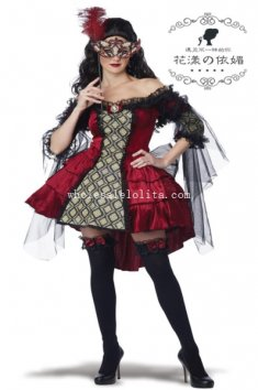 2014 New Adult Womens Vampire Halloween Costume Fancy Ball Dress