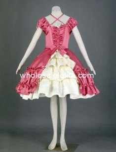 Cute Pink and White Short Sleeves Princess Sweet Lolita Dress