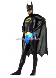 Black Blue And Yellow Batman Spandex Costume