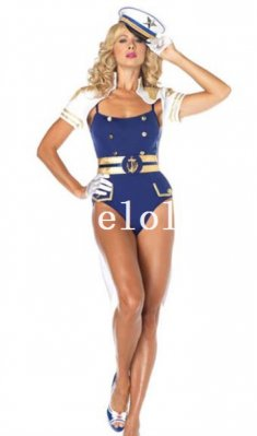 Seduce Female Navy Halloween Costume Night Wear
