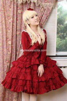 Alice Long Sleeves Cotton Princess Sweet Lolita Dress