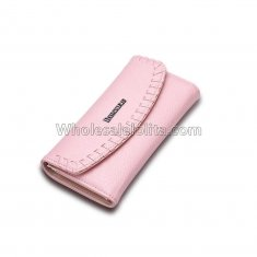 Female Wallet for dollar price brand and women's purse genuine leather money bag Pink Ladies walet