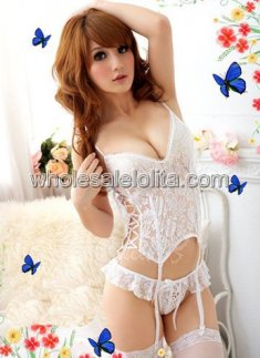 Cheap Sexy White Bridal Bustier With Stripes