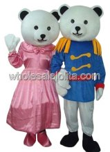 Couple Teddy Bear Mascot Costume for Female