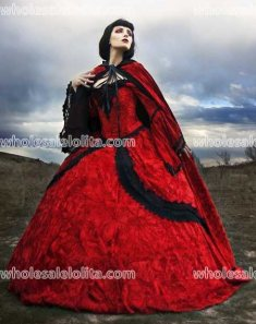 Red/Black Velvet Fairy Renaissance Set with Cape- SOLD