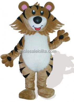 Brown Tiger Mascot Costume for Adult