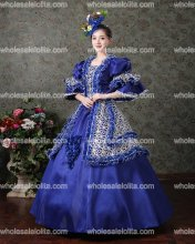 Victorian Gothic Georgian Period Marie Antoinette Dress Ball Gown Vintage Victorian Period Costumes