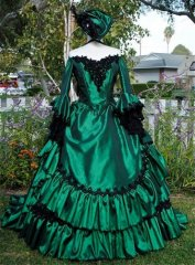 Gothic Victorian Steampunk Antoinette Fantasy Masquerade Gown Any Color or Size