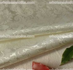 Retro Beige Flower Jacquard Fabric