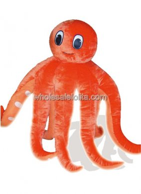 Plush Adult Octopus Costume