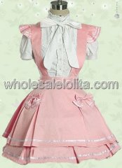 Pink And White Cotton Sweet Lolita Dress