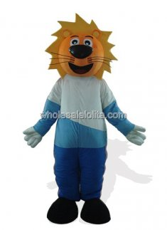 Yellow Head Lion Mascot Costume