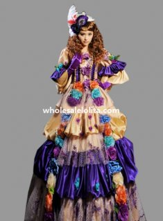 New Design Marie Antoinette Inspired Party Dress Stage Costume