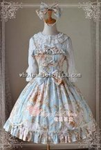 Magic Tea Party Elegent Floral Printing JSK Sweet Lolita with KC