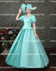 New Arrival Blue Rococo Baroque Marie Antoinette Ball Gown Dresses 18th Century Renaissance Historical Period Dresses