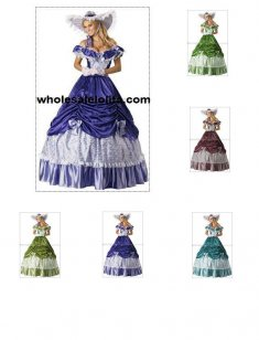 Civil War Southern Belle Lolita Cosplay Ball Gowns Vintage Party Dresses