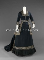Early Victorian Bustle 1872-1874 Mourning Dress