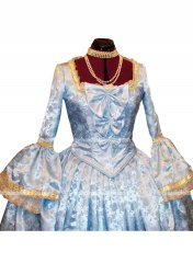 Georgian Period Dress Marie Antoinette Stain Masquerade Ball Gown Party Dresses