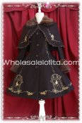 2014 New Deluxe The King's Nightingale Woolen Lolita Coat with Cape