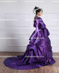 18th Century Pruple Ball Gown /18th Century Bustle Dress/Victorian Evening Dresses
