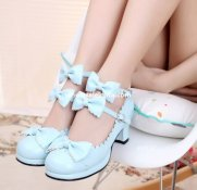 Cosplay Double Ankle Straps Bow Sweet Princess Lolita Shoes