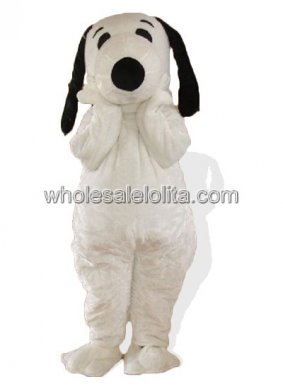 White Adult Snoopy Holloween Costume