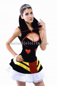 Sexy Cut Out Queen of Hearts Costume