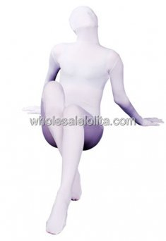 Hot Sale Pure White Lycra Spandex Zentai Suit