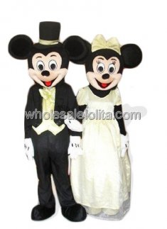 Womens Mickey Mouse and Minnie Mouse Wedding Costume