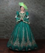 New Dark Blue Marie Antoinette Victorian Dress Prom Gown
